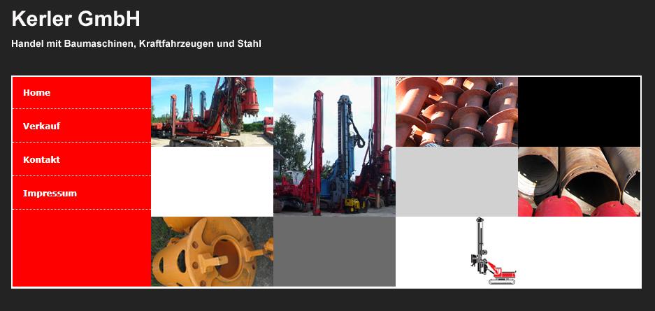 Alte Webseite der Firma Kerler GmbH